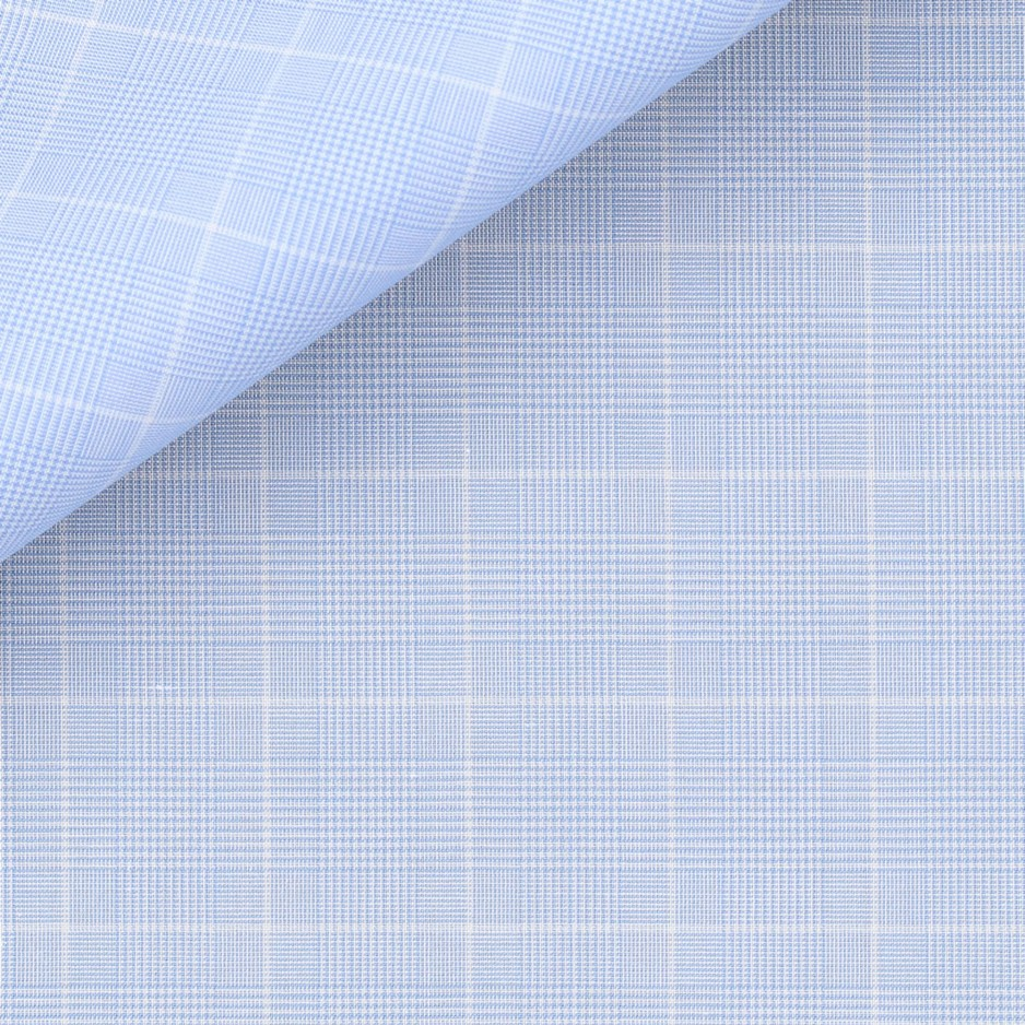 Prince of Wales Check Pattern Blue