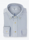 Blue and Cream striped Oxford Shirt