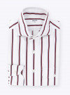 Blue Red Stripes Oxford Shirt