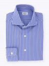 Shirt Blue Stripes Poplin