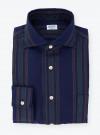 Shirt Linen Stripes Blue Green