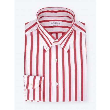Red Butcher Stripes Shirt
