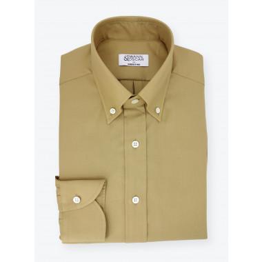 Shirt Oxford Plain Beige