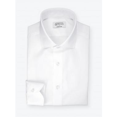 Twill Shirt Plain White (easy care)