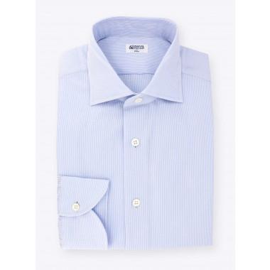 Shirt Blue Striped Seersucker