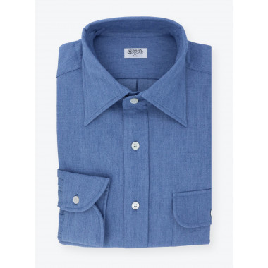 Shirt Denim Plain Blue