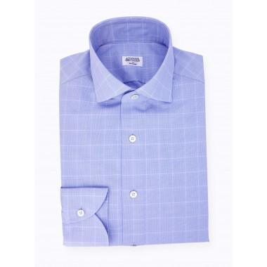 Blue Prince of Wales Shirt