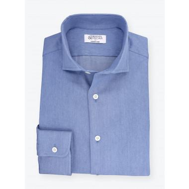Shirt Denim Plain Bleu