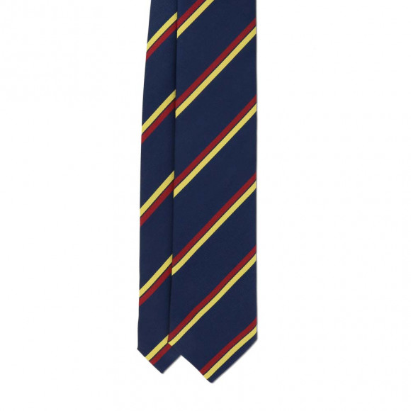 Club Tie Blue Red Yellow