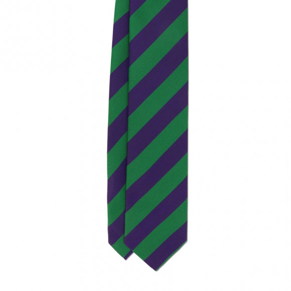 Purple Green Club Tie