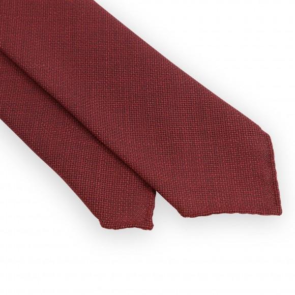 Unlined wool red tie
