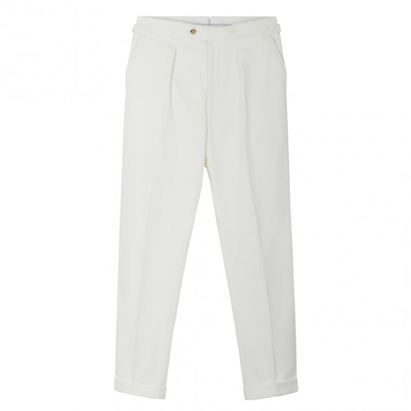White corduroy pants