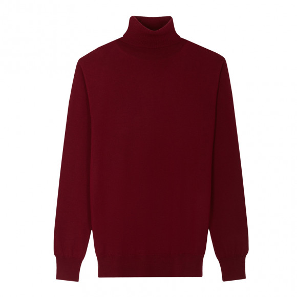 Bordeaux Roll Neck knitwear