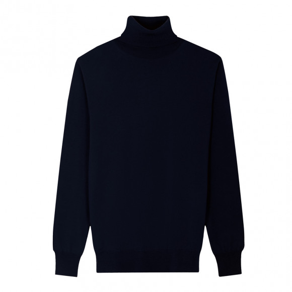 Navy Blue Roll Neck knitwear