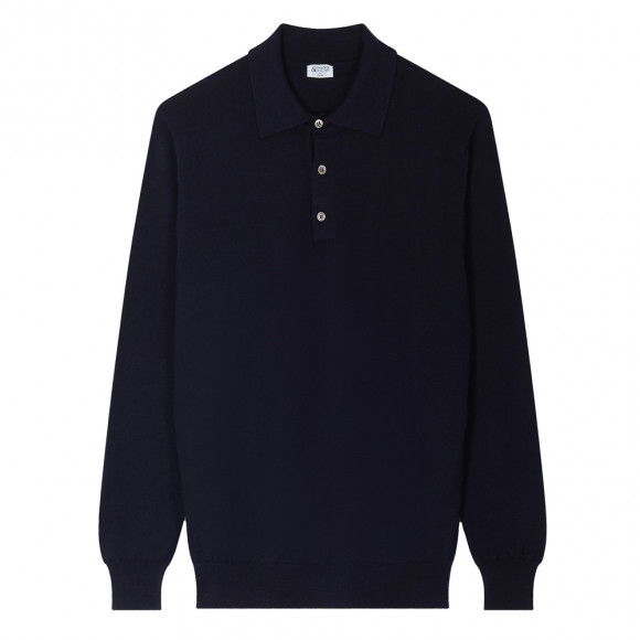 Navy Blue Polo knitwear
