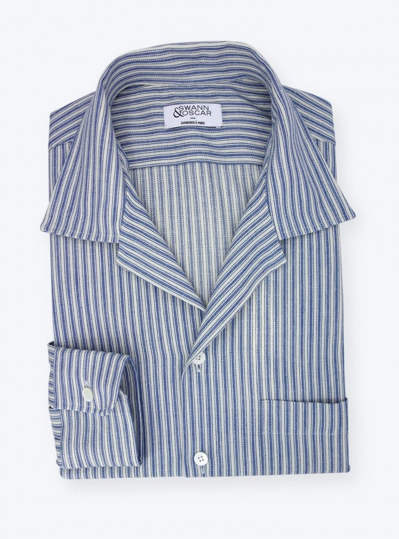 Denim Shirt Blue Stripes