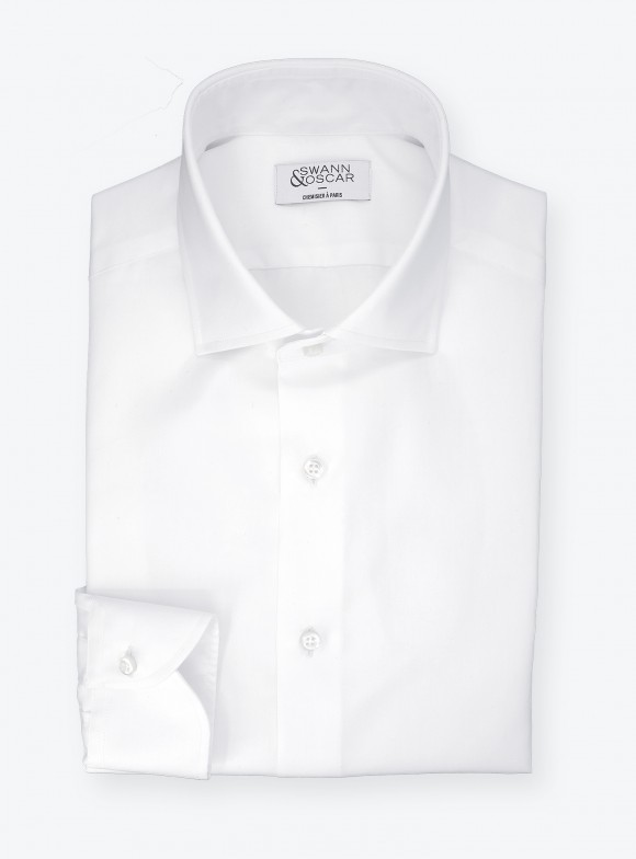Twill Shirt Plain White (easy care)