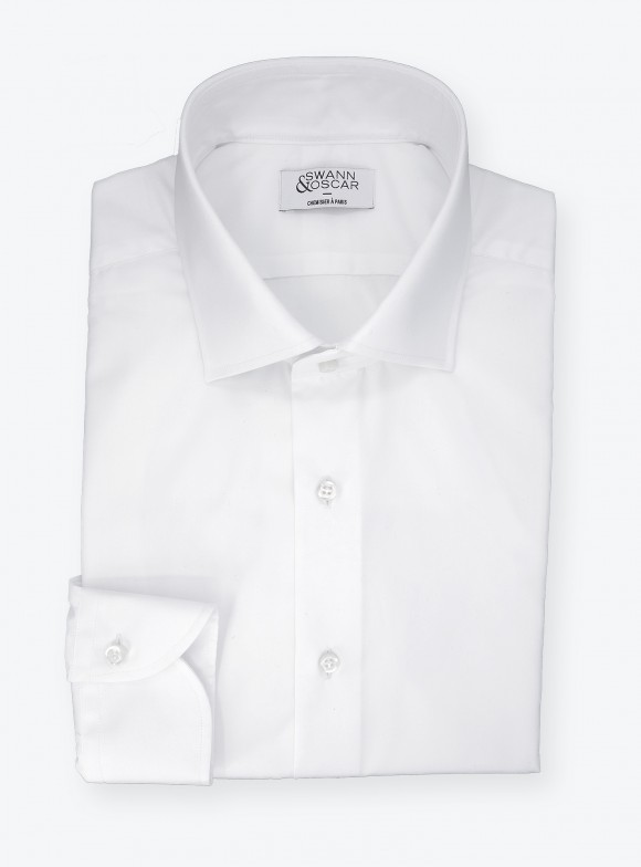 Poplin Shirt Plain White (easy care)