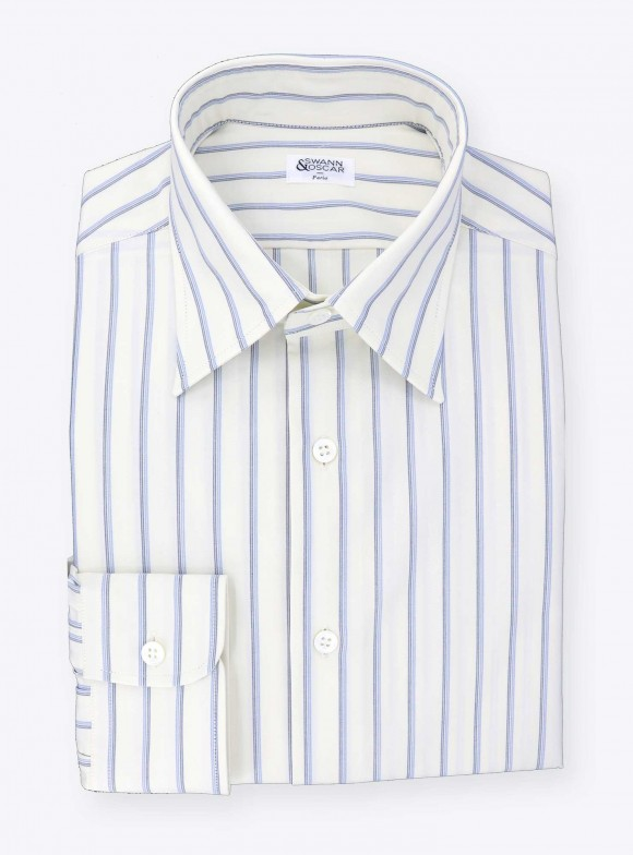 Vintage Shirt Blue Stripes