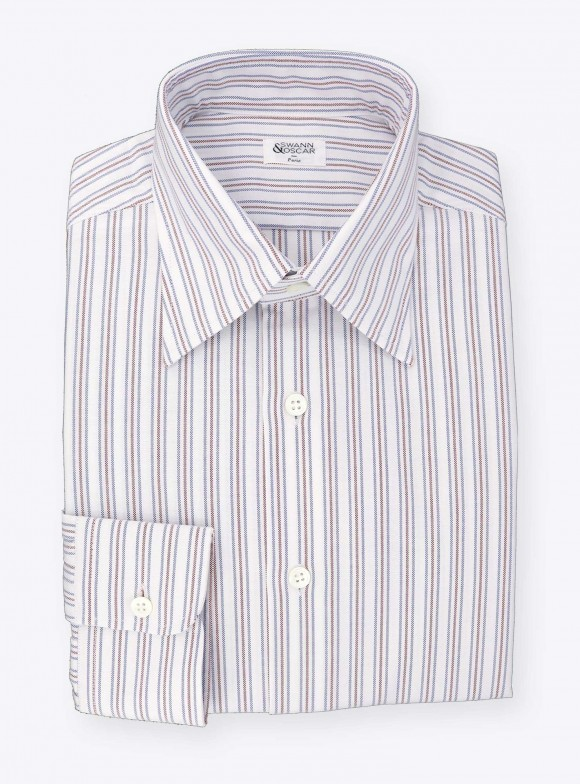 Shirt Oxford Stripes Blue Red