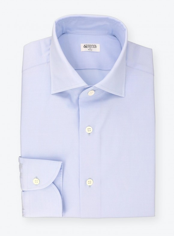 Plain Blue Zephyr Shirt