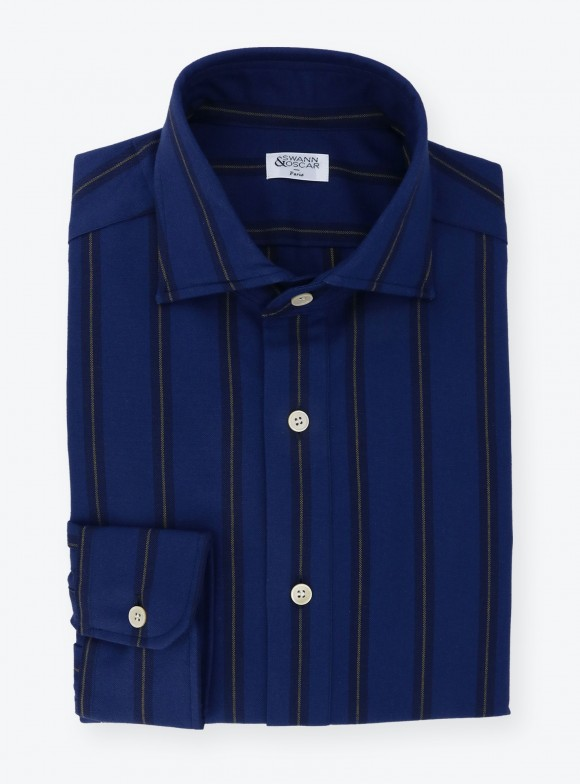 Shirt Oxford Stripes Blue Yellow
