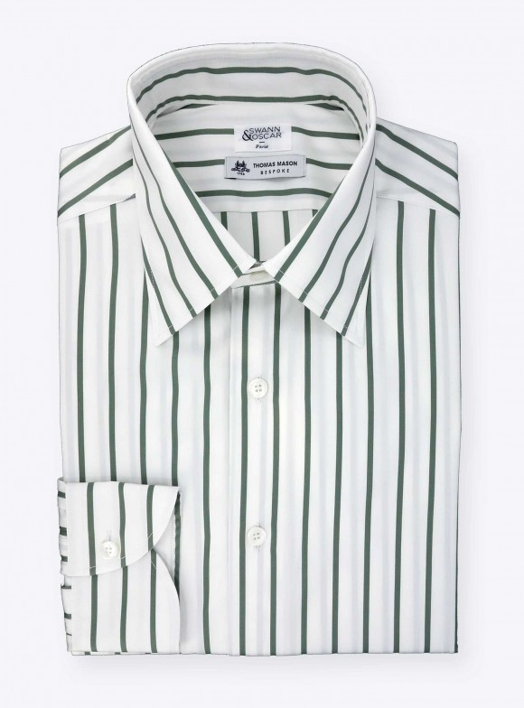 Shirt Poplin Stripes Green