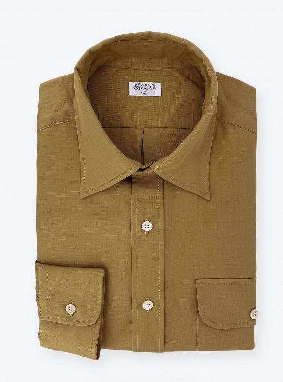 Beige Cotton / Linen Shirt