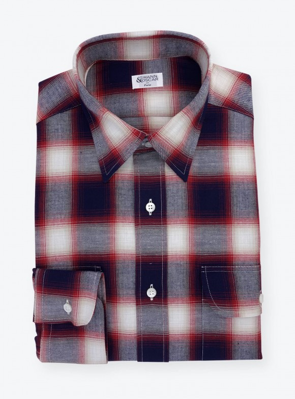 Flannel Shirt Red Blue Check Pattern