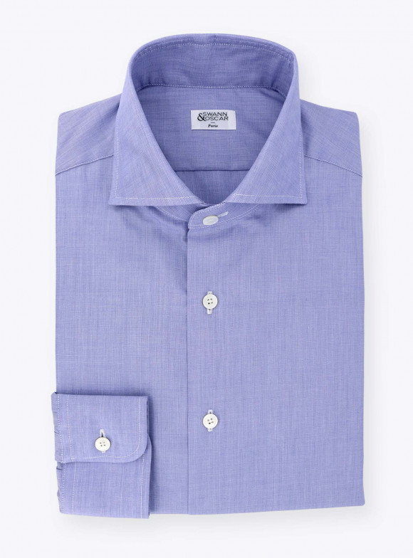 Plain Blue End on End Shirt
