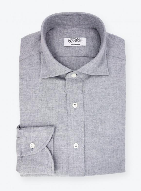 Shirt Twill Plain Grey
