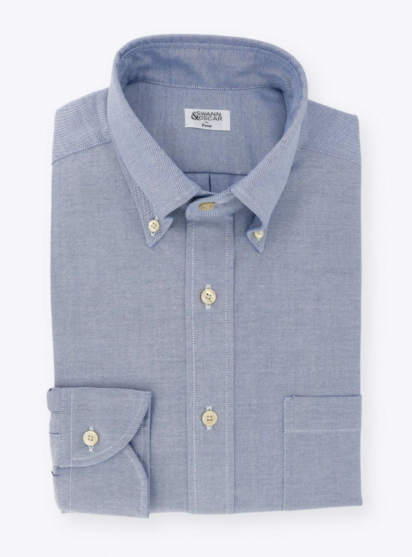 Shirt Plain Blue Oxford