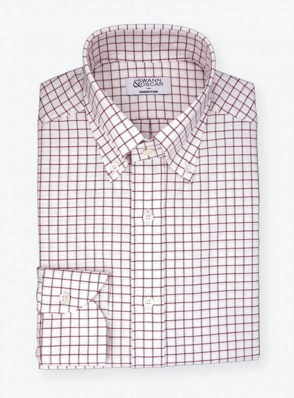 Shirt Oxford Check Pattern Red