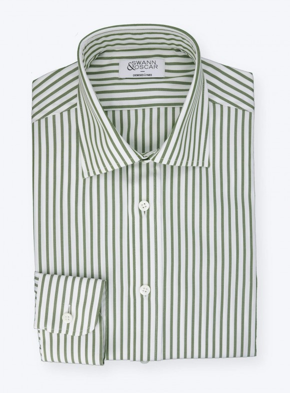 Shirt Oxford Stripes Green
