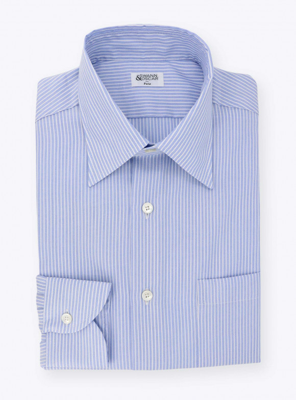 Shirt Blue Stripes Oxford