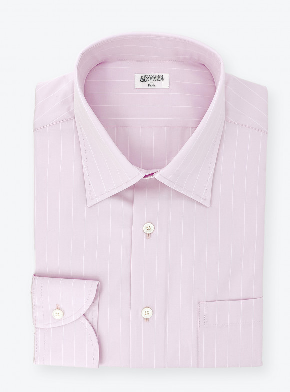 Shirt Poplin Stripes Pink