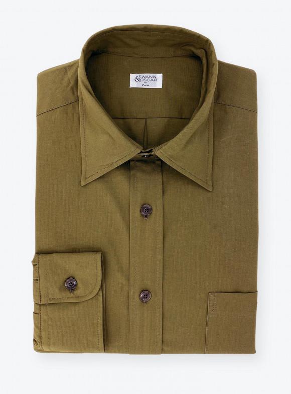 Shirt Dobby Plain Green