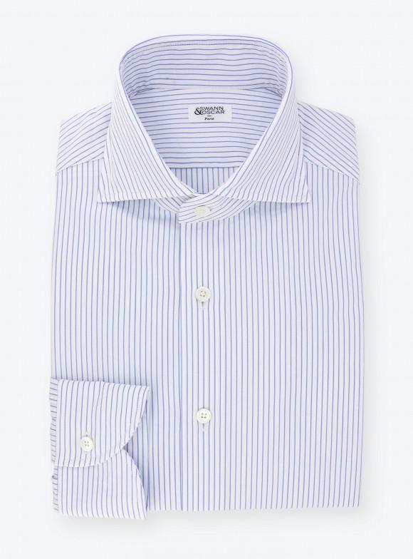 Shirt Seersucker Stripes Blue