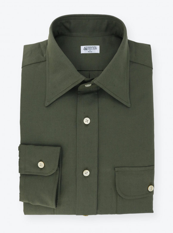 Shirt Twill Plain Green
