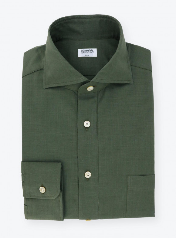 Shirt Chambray Plain Green