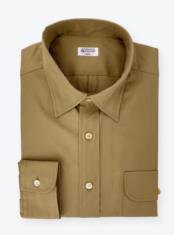 Shirt Poplin Plain Green