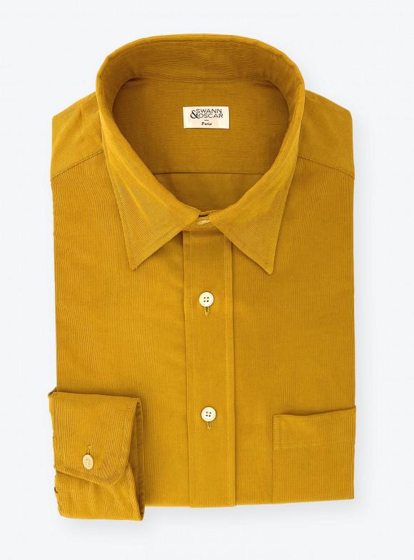 Shirt Corduroy Plain Brown