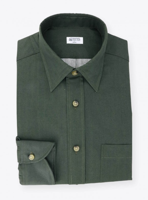 Plain Green Oxford Shirt
