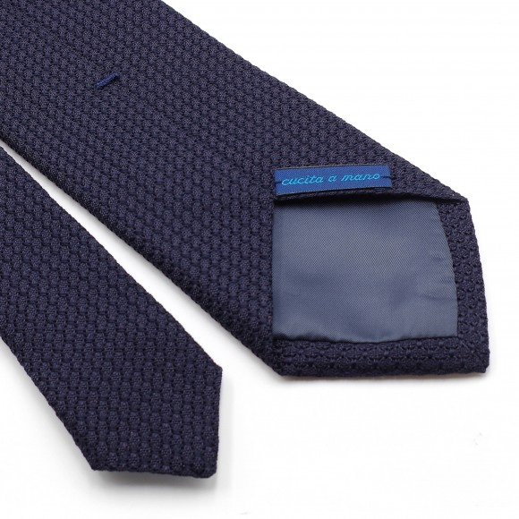 Grenadine «Garza Grossa» Silk Tie Blue