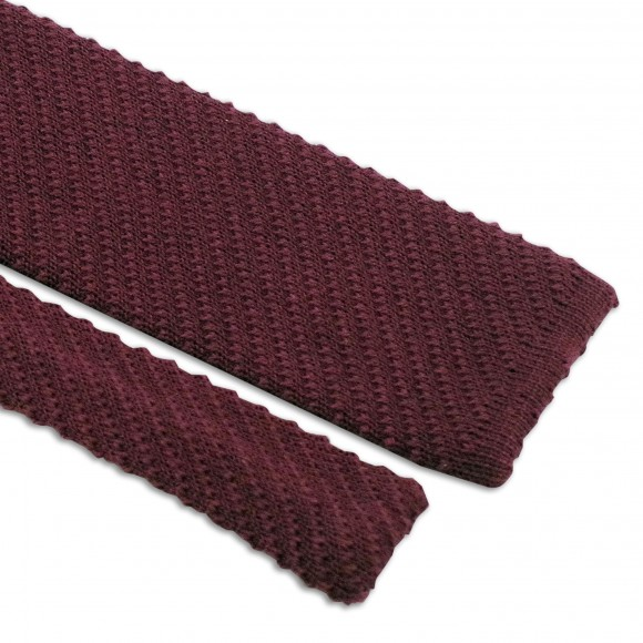 Knitted Tie Burgundy
