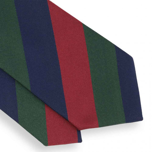 Blue, Green and Red Club Tie