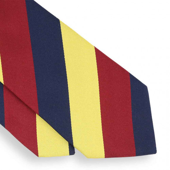 Blue, Yellow and Red Club Tie