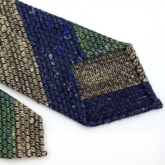 Tricolor Shantung Silk Club Tie