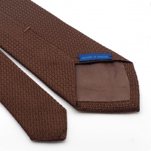Grenadine « Garza Grossa » Silk Tie Brown
