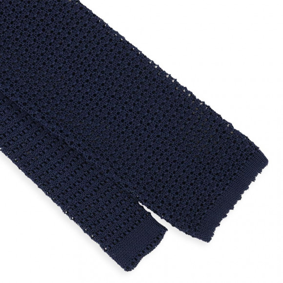 Navy blue Jersey Tie